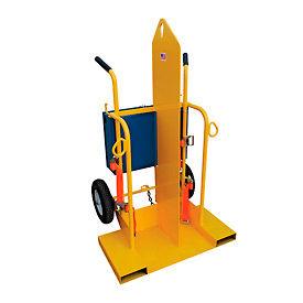 Vestil Welding Cylinder Cart CYL-2 Pneumatic Wheels 28 x 36-1/4 x 69-1/8