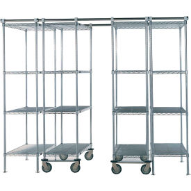 "Space-Trac 4 Unit Storage Shelving Chrome 36""W x 24""D x 74""H - 12 ft."