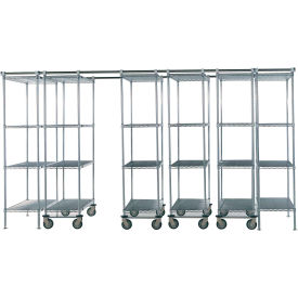 "Space-Trac 6 Unit Storage Shelving Poly-Z-Brite 48""W x 18""D x 74""H - 12 ft."