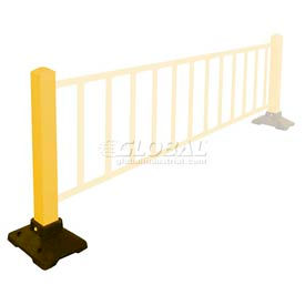 """Safety Steel Galvanized Post with Rubber Base 39""""H Yellow, Post Only"""