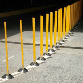 "Surface Mount Flexible Stake 24"" H Yellow"