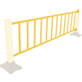 Safety Steel Galvanized Rail with Bracket 10 Ft. Yellow, Rail Only