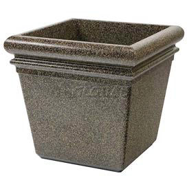 """Concrete Stone Tec Outdoor Planter, 19"""" Square Aspen"""