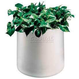 "Plastic Outdoor Planter, 22"" Round White"