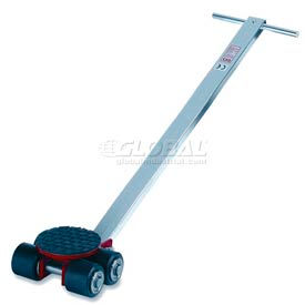 GKS Perfekt® L3 Machinery Roller Dolly Swivel Plate, Steer Handle 6600 Lb. Cap.