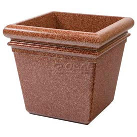 "Concrete Stone Tec Outdoor Planter, 19"" Square Sedona"