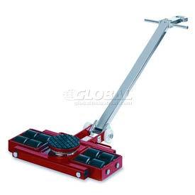 GKS Perfekt® L6 Machinery Roller Dolly Swivel Plate, Steer Handle 13,200 Lb. Cap.