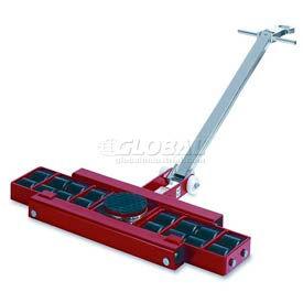 GKS Perfekt® L12 Machinery Roller Dolly Swivel Plate Steer Handle 26,400 Lb. Cap.