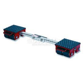 GKS Perfekt® F6 Machinery Roller Dolly Rigid Plates, Adjustable Width Connector Bar 13,200 Lb.