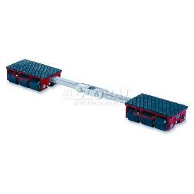 GKS Perfekt® F9 Machinery Roller Dolly Rigid Plates, Adj Conn Bar 19,800 Lb