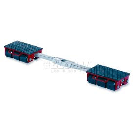 GKS Perfekt® F9 Machinery Roller Dolly Rigid Plates, Adjustable Width Connector Bar 19,800 Lb.