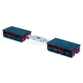 GKS Perfekt® F12 Machinery Roller Dolly Rigid Plates, Adjustable Width Connector Bar 26,400 Lb.