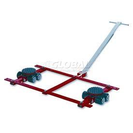 GKS Perfekt® TL6 Tandem Roller Dolly Swivel Plates, Adjustable Width Frame 13,200 Lb. Cap.