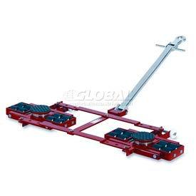 GKS Perfekt® TL12 Tandem Roller Dolly Swivel Plates, Adj. Frame 26,400 Lb.