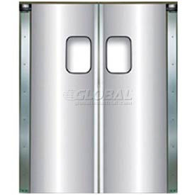 Chase Doors Light Duty Anodized Aluminum Service Door Double Panel 4884SDD 4' x 7'