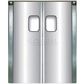 Chase Doors Light Duty Anodized Aluminum Service Door Double Panel 4884SDD 4' x 7'