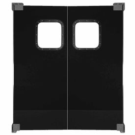 Light to Medium Duty Service Door Double Panel Black 4' x 7'