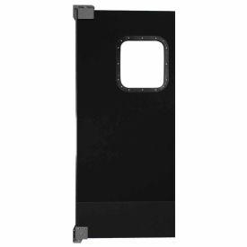 Chase Doors Light to Medium Duty Service Door Single Panel Black 3' x 7' 3684NWS-BK