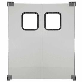 Chase Doors Light to Medium Duty Service Door Double Panel Gray 4' x 7' 4884NWD-MG