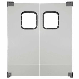 Chase Doors Light to Medium Duty Service Door Double Panel Gray 6' x 7' 7284NWD-MG