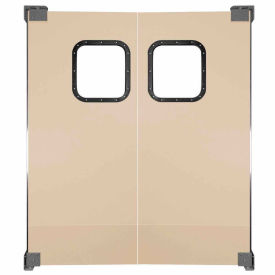 Light to Medium Duty Service Door Double Panel Beige 4' x 7'