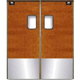 Chase Doors Medium Duty Service Door Double Panel Maple 5' x 7' with Kickplate 6084SC