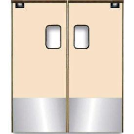 Chase Doors Medium Duty Service Door Double Panel Beige 4' x 8' with Kickplate 4896SC