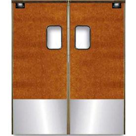 Chase Doors Medium Duty Service Door Double Panel Maple 6' x 8' with Kickplate 7296SC