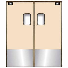 Chase Doors Medium Duty Service Door Double Panel Beige 4' x 7' with Kickplate 4884SC