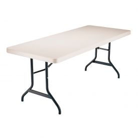 """Lifetime® Portable Folding Table 72"""" - Almond (Pallet Pack of 22)"""
