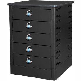Datum TekStak Laptop Storage Charging Locker, 5-Tier, Hasp Lock, Laminate Top, Series TEKSE5-H