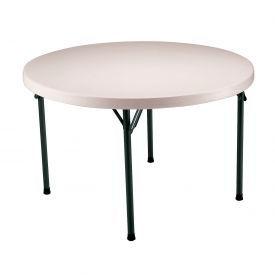 "Lifetime® Portable Round Folding Table 48"" - Almond  (Pallet Pack of 12) - Pkg Qty 12"
