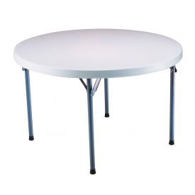 "Lifetime® Round Folding Table 48"" - White Granite (Pallet Pack of 12) - Pkg Qty 12"