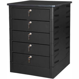 Datum TekStak Laptop Storage Locker 5 Tier Key Lock Laminate Top, Series TEKS5-K