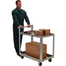 Vestil Aluminum Two Shelf Service Cart SCA2-2236 36 x 22 660 Lb. Capacity