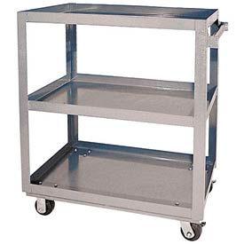 Vestil Aluminum Three Shelf Service Cart SCA3-2840 40 x 28 660 Lb. Capacity