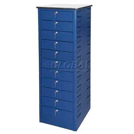 Datum TekStak Laptop Storage Locker 11 Tier Key Lock Laminate Top