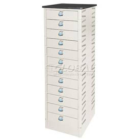 Datum TekStak Laptop Storage Locker 12 Tier Hasp Lock Laminate Top