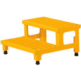 """Vestil ASP-24 Adjustable Height Step Stand, Carbon Steel 24""""W x 24""""L"""