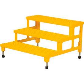 """Vestil ASP-36-3 Adjustable Height Step Stand, Carbon Steel 36""""W x 36""""L"""