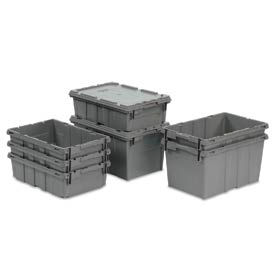 LEWISBins Nest Only Container RNO2115-5 - 21  x  15-1/8  x  5-1/8 Gray Closed Handle - Pkg Qty 5