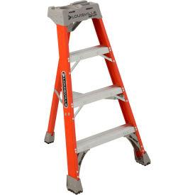 Louisville 4' Type 1A Fiberglass Tripod Ladder, 300 Lb. Cap. - FT1504