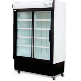 Kool-It KSM-42 - Reach-In Cooler, Double Sliding Glass Door, 42.37 Cu. Ft.