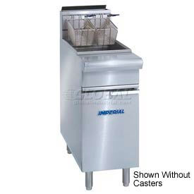 Imperial Gas Fryer 75 lb. - Natural Gas with Casters