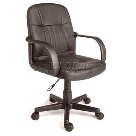 Leather Mid-Back Office Chair Black