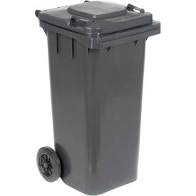 Mobile Trash Can - 32 Gallon Gray - TH-32-GY