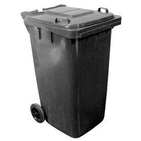 Vestil Mobile Trash Can TH-64-GY - 64 Gallon Gray