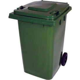 Mobile Trash Can - 95 Gallon Green - TH-95-GRN
