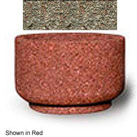 """Small Concrete Outdoor Planter, 26""""Dia. x 17""""H Round Gray Limestone"""
