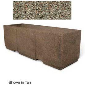 "Concrete Outdoor Planter w/Forklift Knockouts, 72""Lx24""W x 24""H Rectangle Gray Limestone"